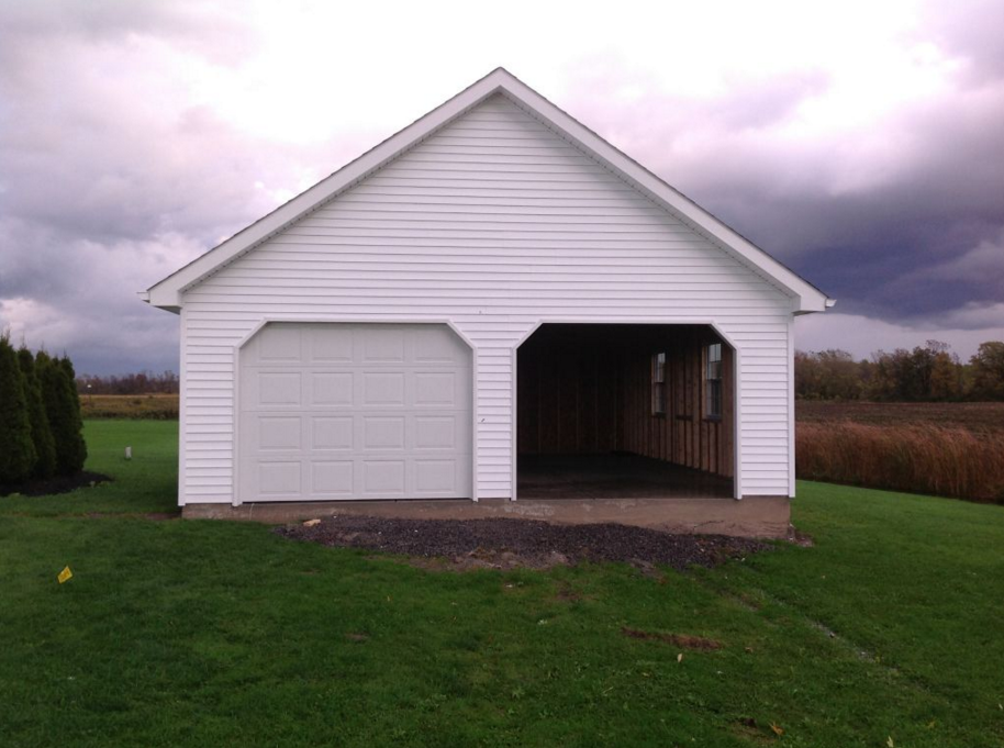 2 Car Detached Custom Garage Builders Buffalo Atlantic