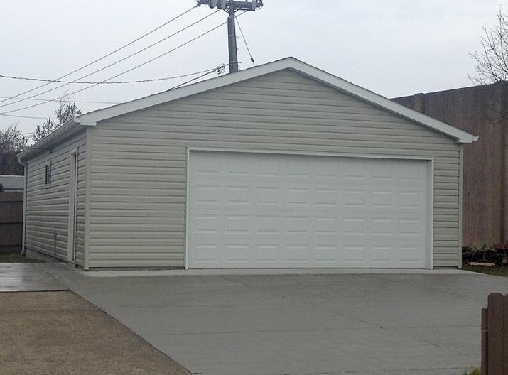 Detached garage 2 1 2 car custom garage builders buffalo for Custom detached garage