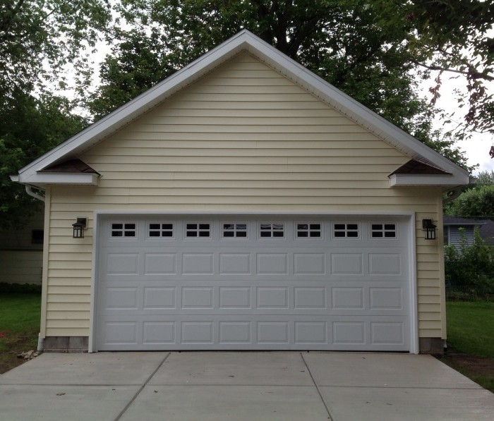 2 car garage detached