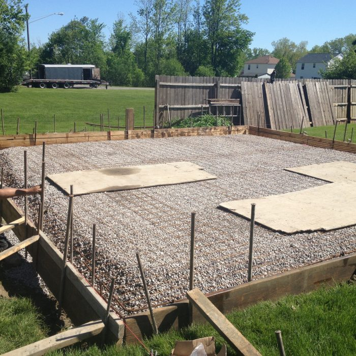 Garage Concrete Slab Set Up