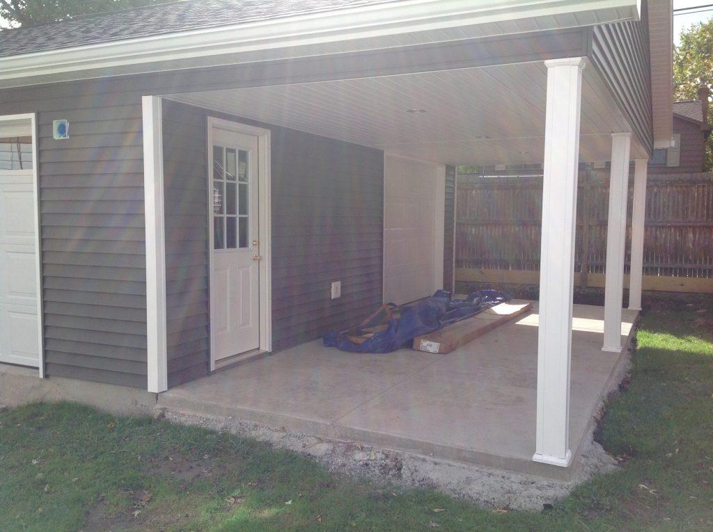 Detached Garage With Patio Custom Garage Builders
